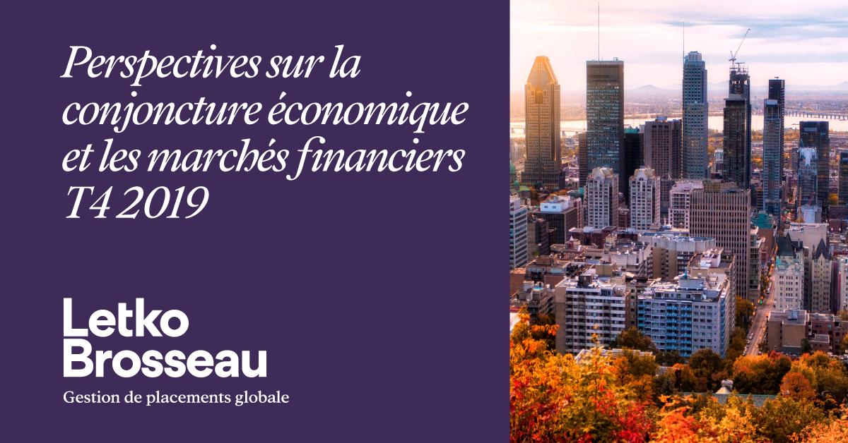 Perspectives sur la conjoncture économique et les marchés financiers – T4 2019