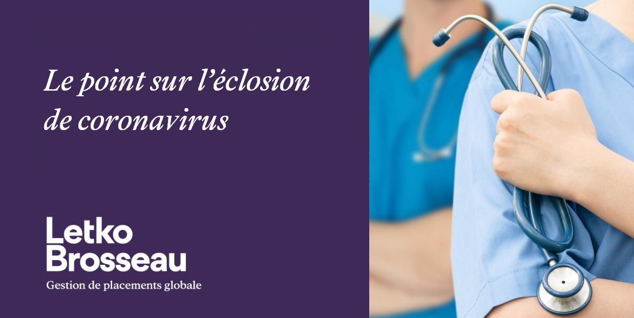 Le point sur l'éclosion de coronavirus