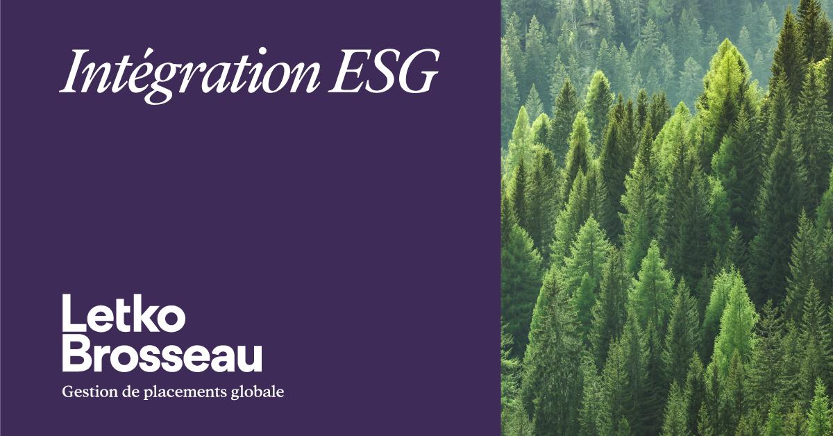 Intégration ESG