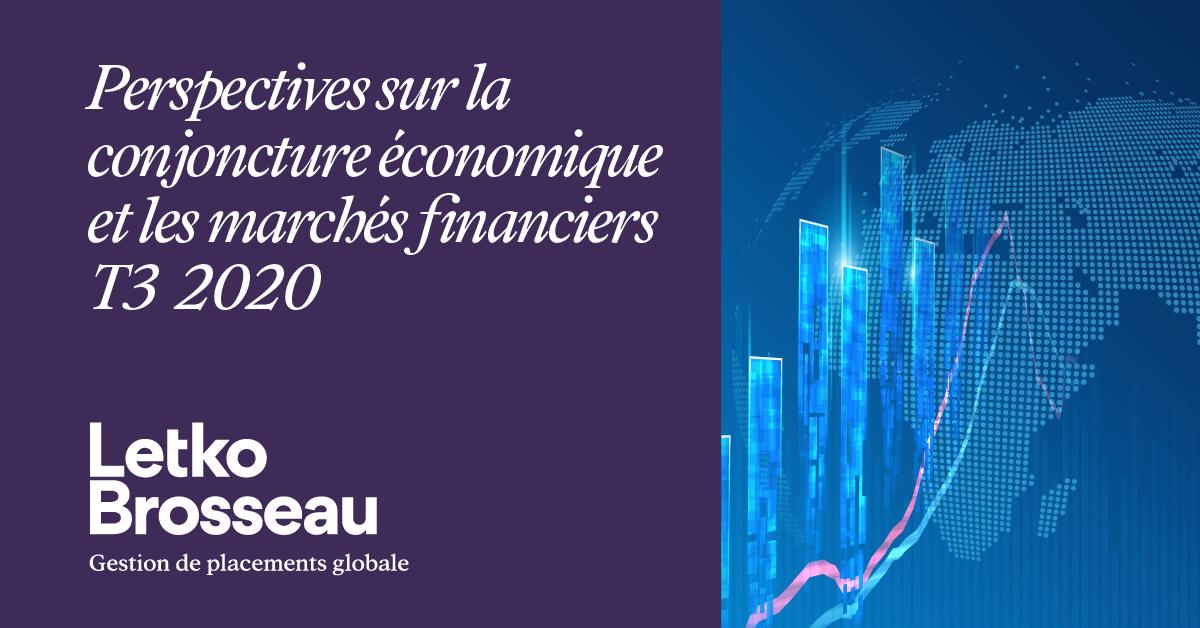 Perspectives sur la conjoncture économique et les marchés financiers – T3 2020