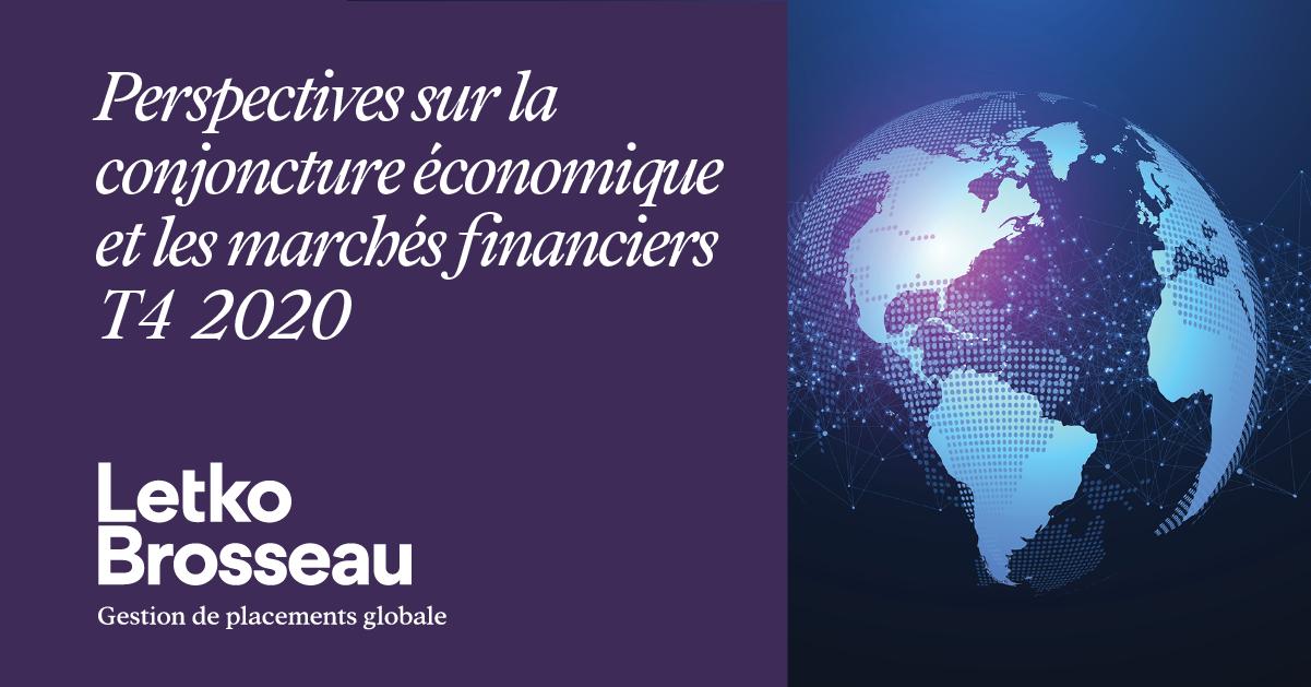 Perspectives sur la conjoncture économique et les marchés financiers – T4 2020