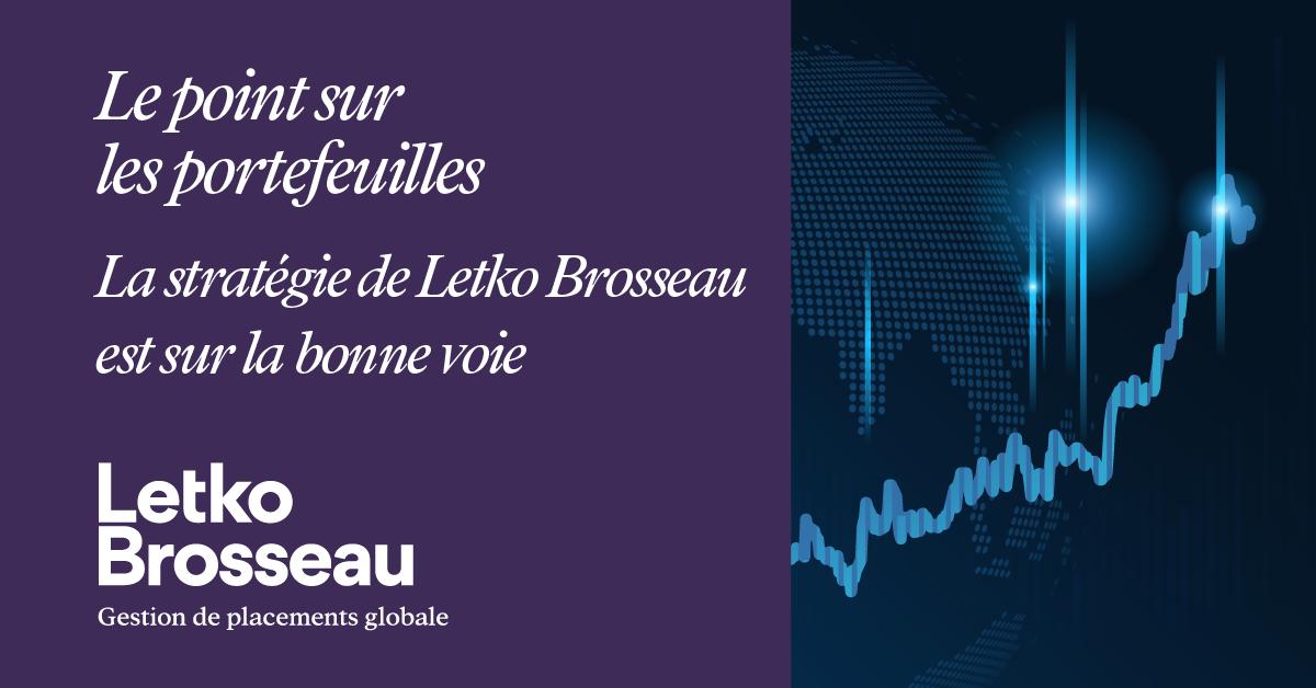 Le point sur les portefeuilles – La stratégie de Letko Brosseau est sur la bonne voie