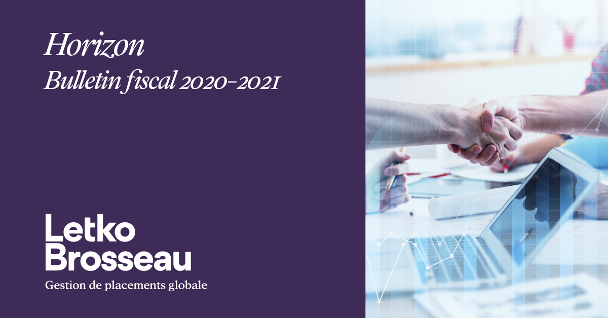 Horizon – Bulletin fiscal 2020-2021