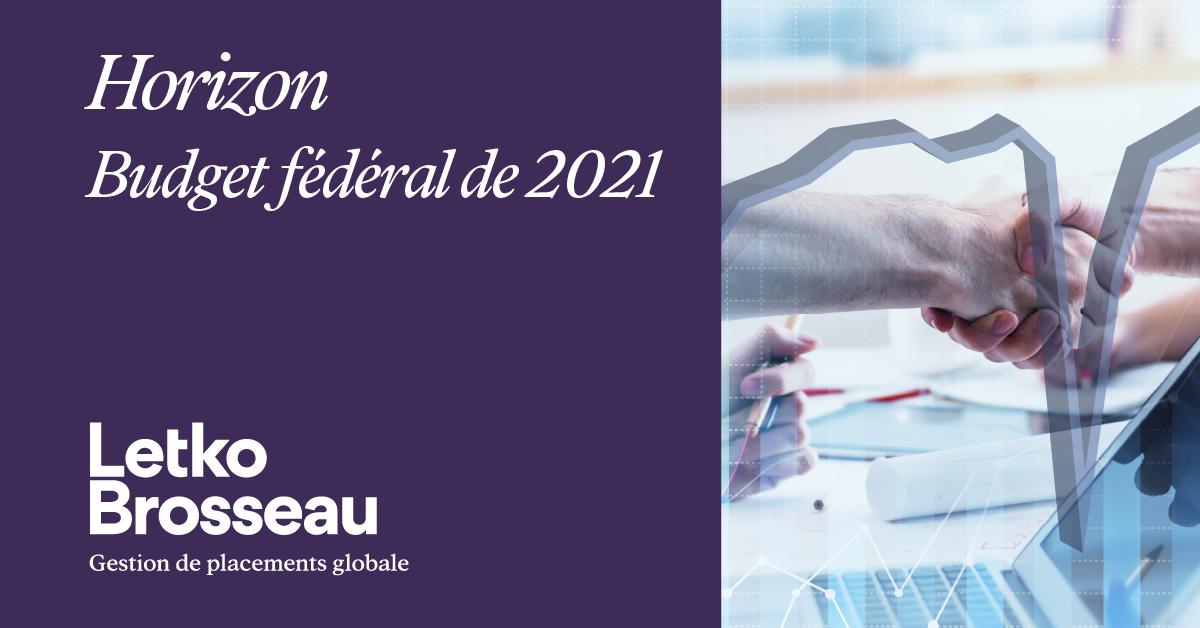 Budget fédéral de 2021