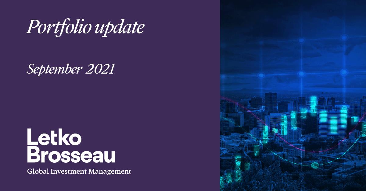 Portfolio Update – September 2021