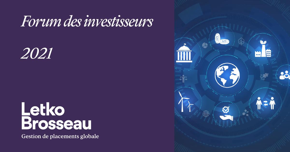Forum des investisseurs 2021